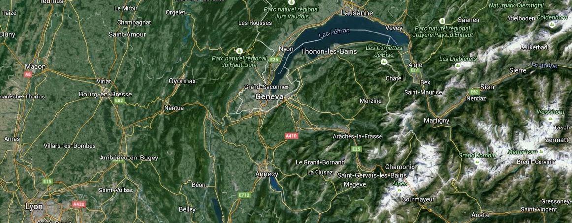 Bf Swiss Kort Over Geneve Insideflyer Dk