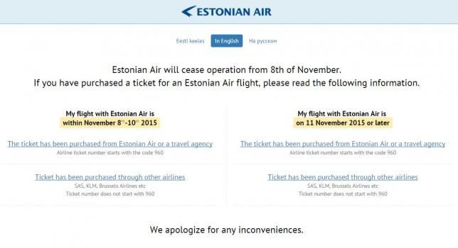 Estonian Air går konkurs!