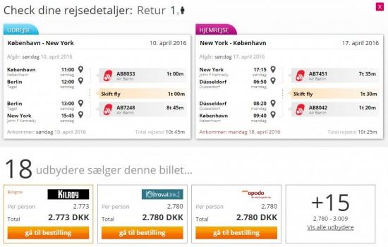 InsideFlyer DK - Rejse Deal - Airberlin - København til Nyw York - April 2016