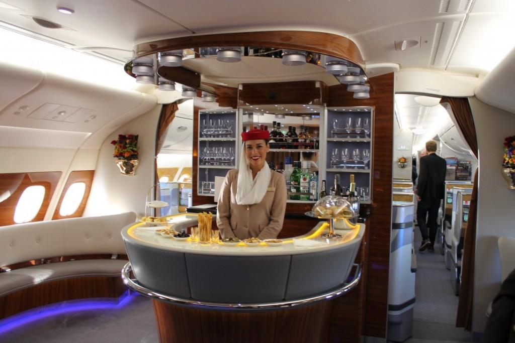 Bar på 1. sal for Business Class passagerer.