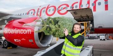 juletræ Gratis med ombord på Air Berlin