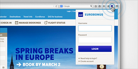 EuroBonusFinderLogin