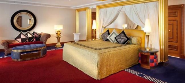 Eksempel på værelse på Burj Al Arab Jumeirah.
