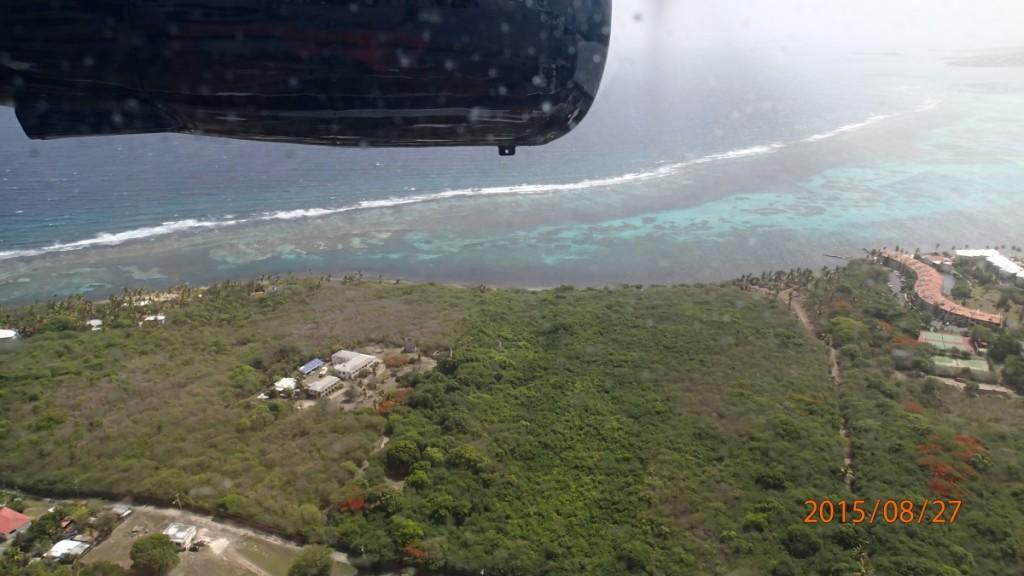 Udsigten fra flyet.