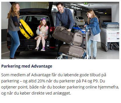 Spar 20% på parkeringen i Københavns Lufthavn ved at være medlem af CPH Advantage programmet.