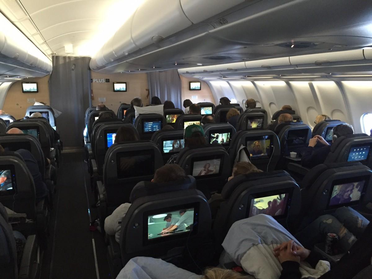 SAS Plus ombord på premiereflyvningen til Los Angeles