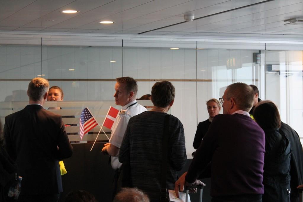 Boarding til første afgang mellem København og Boston