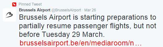 InsideFlyer DK - Bruxelles Lufthavn holder lukket indtil tidligst tirsdag
