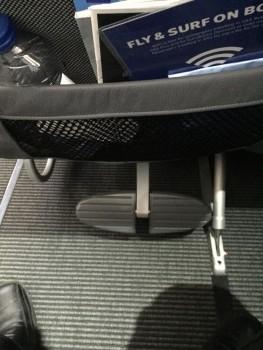 Fodstøtten på de nye SAS Plus sæder er ikke nær så behagelig, som benstøtten på de gamle sæder.