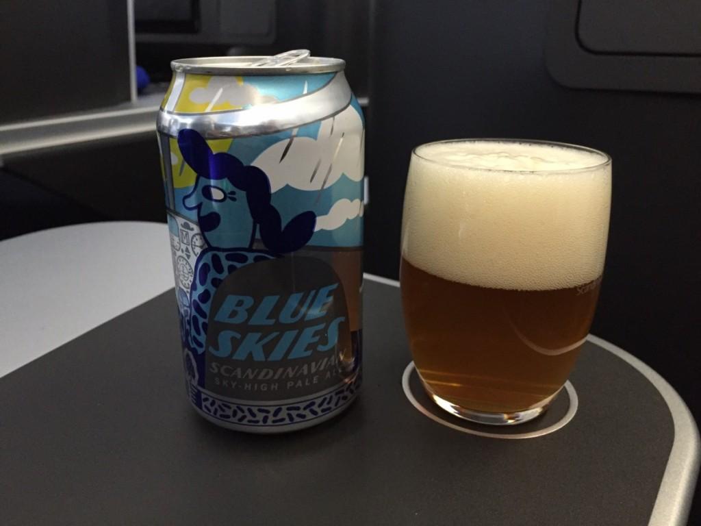 SAS SkyHigh Pale Ale - produceres sammen med Mikkeler og kan kun købes ombord på SAS. Denne øl finder du både på korte og lange ruter.