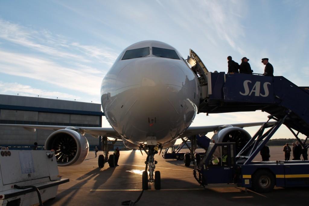 Airbus A320neo testfly har tidligere været på flyvninger til bl.a. Bodø, men det er første gang flyert besøger en af de store lufthavne.