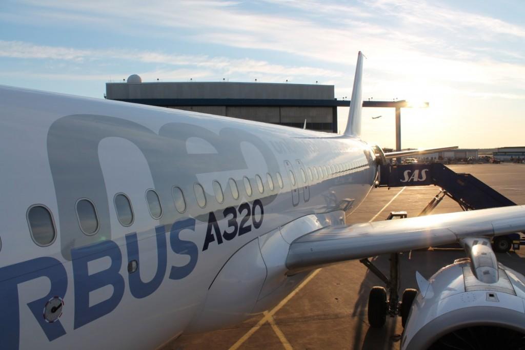 Airbus A320neo testfly på besøg i Stockholm for første gang.