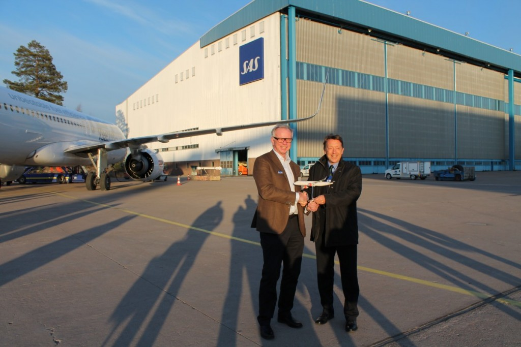 SAS CFO Göran Jansson og Vicedirektør fra Airbus Christopher Buckley