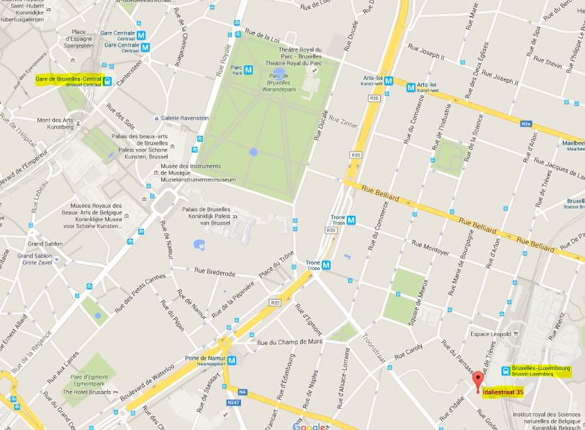 Radisson RED ligger tæt på offentlig transport.