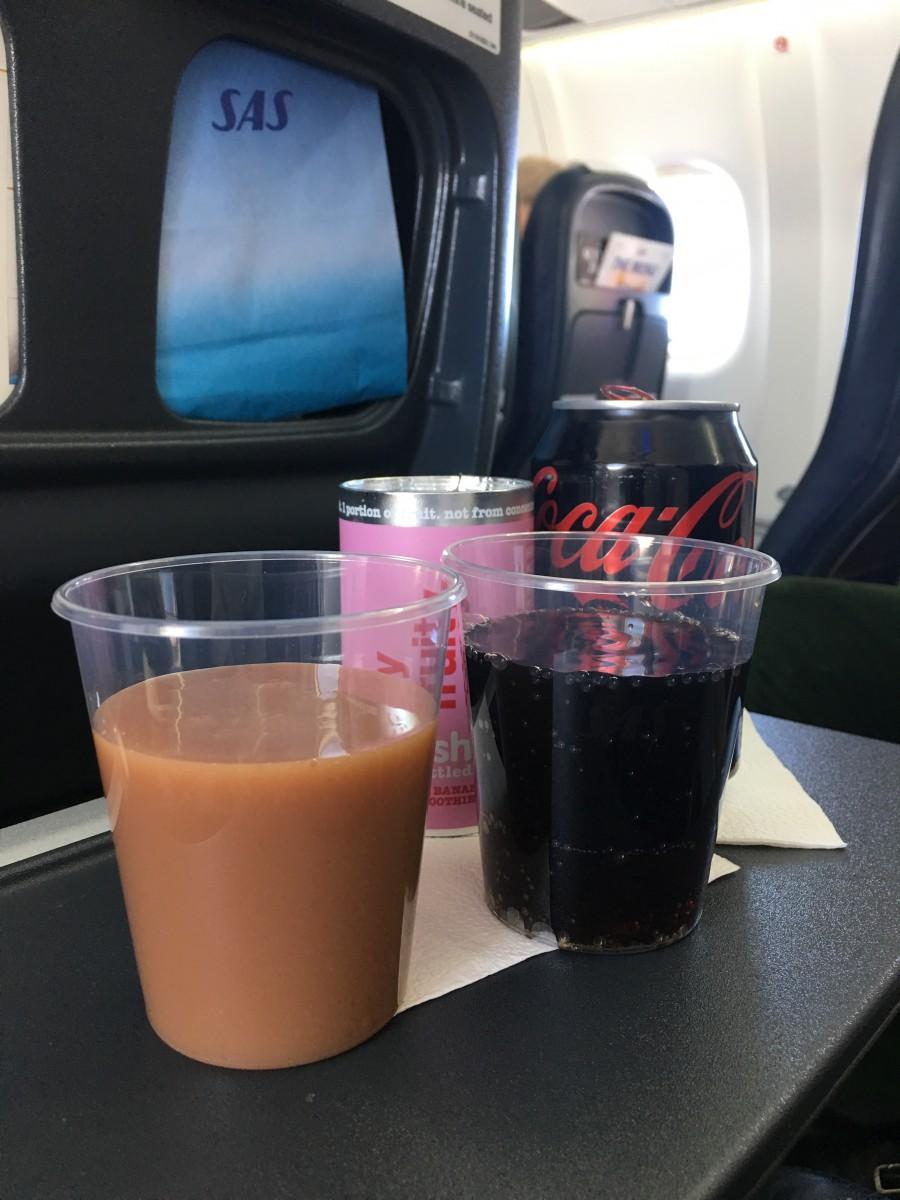 Mit sædvanelige sæt på SAS flyvninger i Europa.