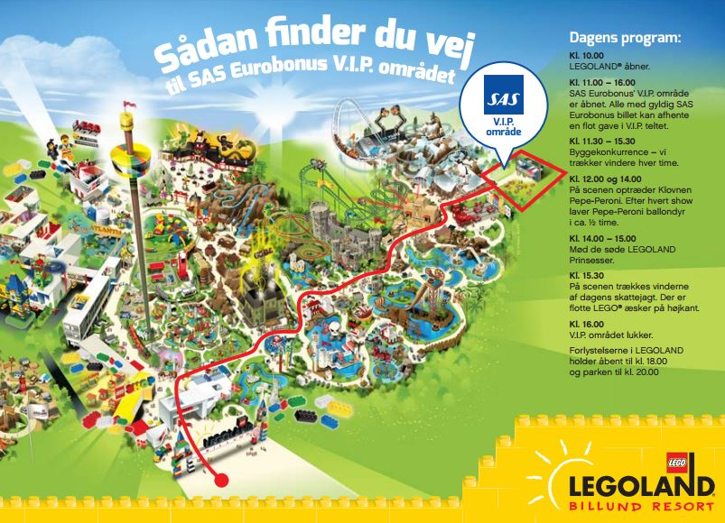 fox fjender kort over Legoland