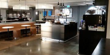 Tidlig morgen i SAS loungen i Oslo lufthavn.
