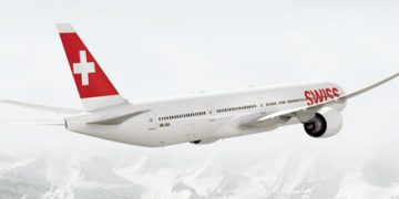 InsideFlyer DK - Swiss - Boeing 777 in flight - Cover