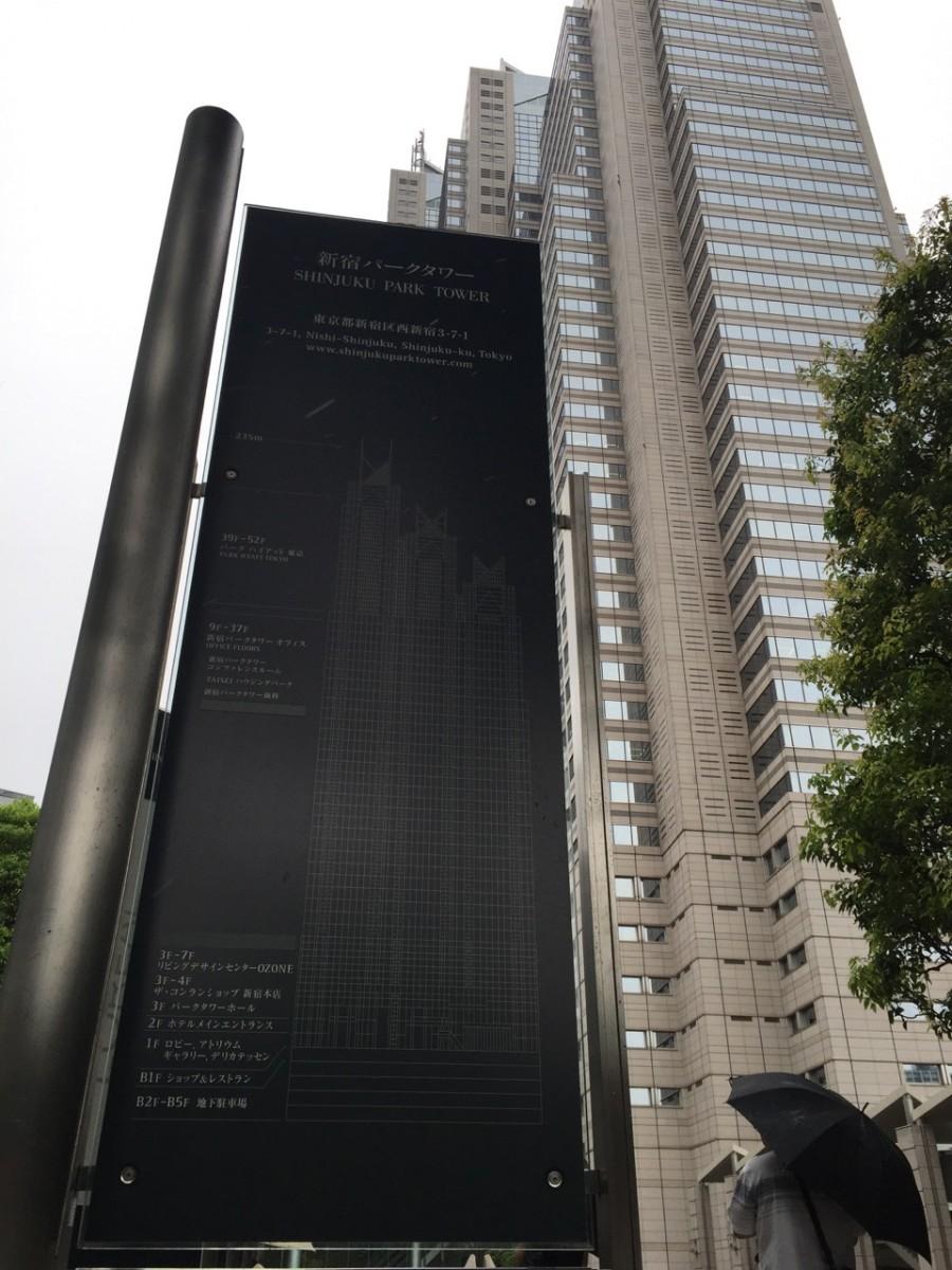 Park Hyatt Tokyo set udefra.