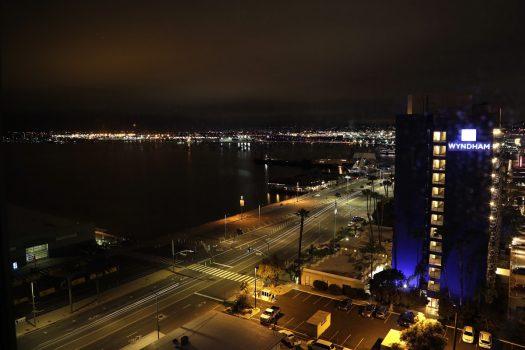 Aften i San Diego. Udsigten er fra Springhill Suites.