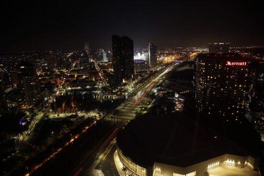 Aften i San Diego. Udsigten er fra Grand Hyatt 33. etage.