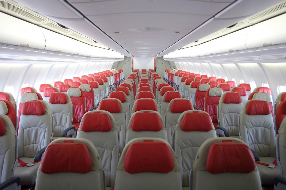 AirAsia og deres økonomi kabine i en Airbus A330.