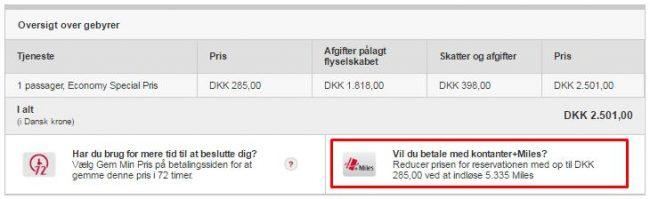InsideFlyer DK - Emirates - Cash + Miles køb af billetter