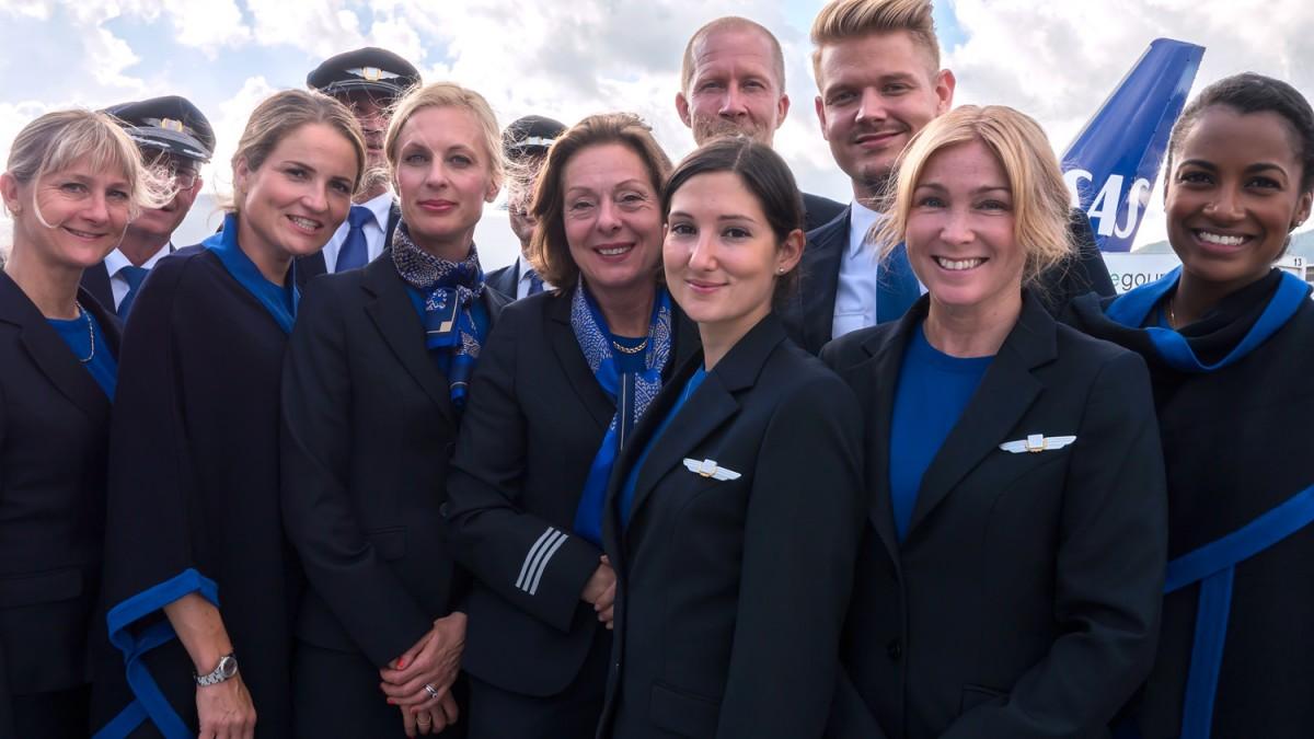 Sådan ser et udvalg af de nye SAS uniformer ud.
