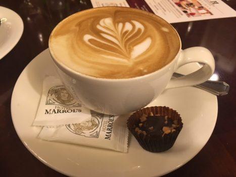 Endnu en dejlig cappuccino på Marrol´s