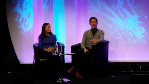 """Blogger Julie Falconer fra """"A Lady in London"""" og Richard fra Cheapflights.com"""