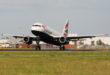 British Airways Airbus A320 landing at London Heathrow, UK, 10 May 2011 (Picture by Nick Morrish/British Airways)