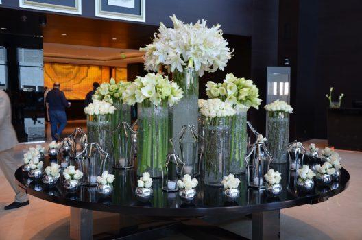 Den imponerende lobby på JW Marriott Marquis Dubai
