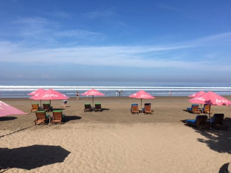 Seminyak Beach cirka 5-7 minutters gang fra hotellet