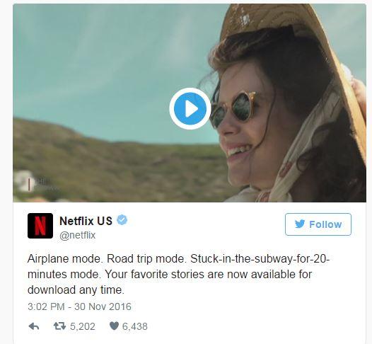 Netflix har nu gjort det muligt at download film på sin smart phone eller tablet og se det offline. En super funktion for dem som rejser.