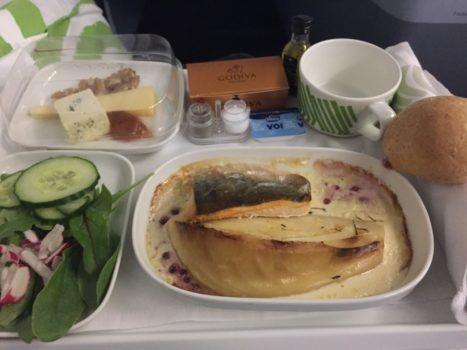 Finnair Business Class aftensmad