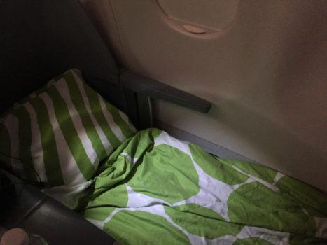 Finnair Business Class seng
