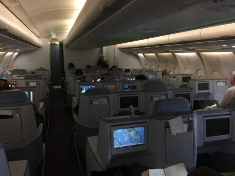 Finnair Business Class kabine