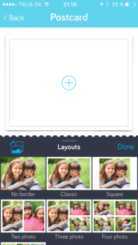 Touchnote layout muligheder