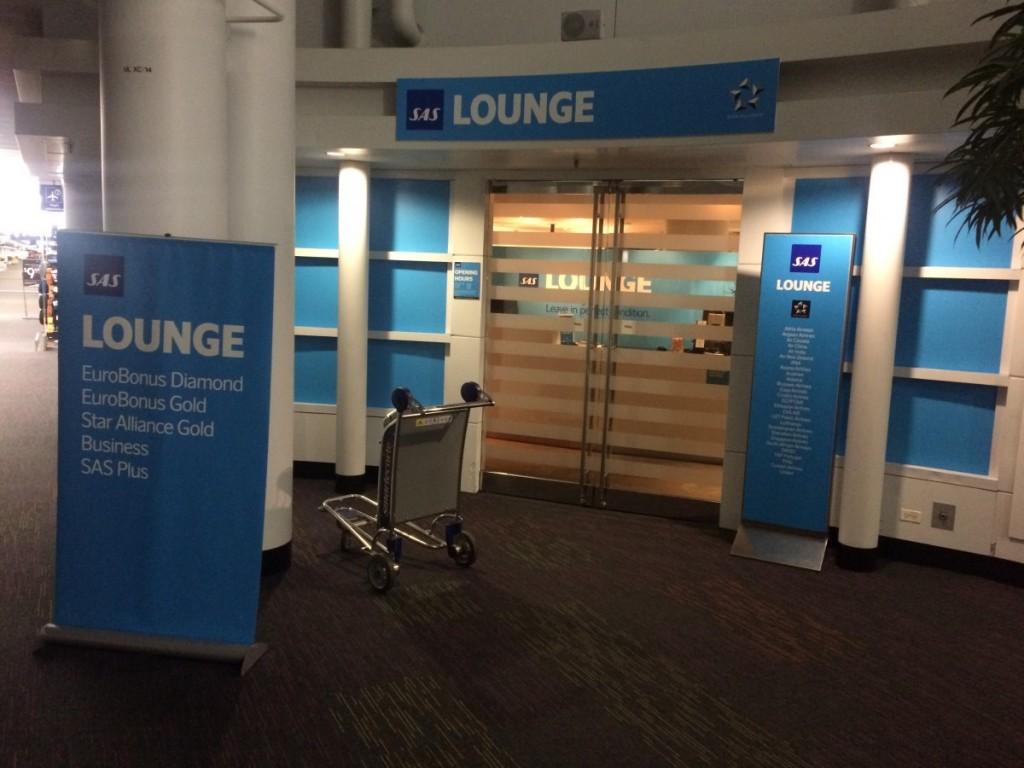 Indgangen til Loungen.