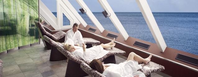 """Om bord på Stena Saga kan du prøve deres """"Spa til søs""""."""