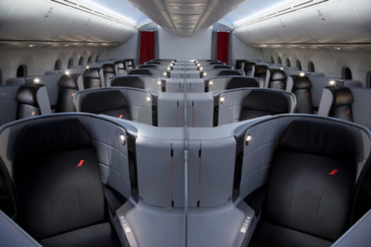Air France Business Class ombord på B787