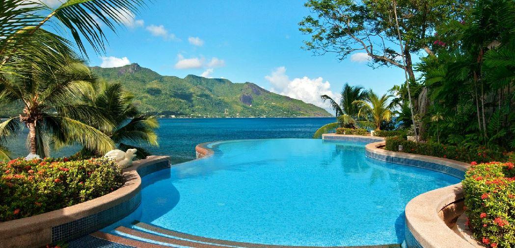 Endless pool på Hilton Seychelles Northolme Resort & Spa.