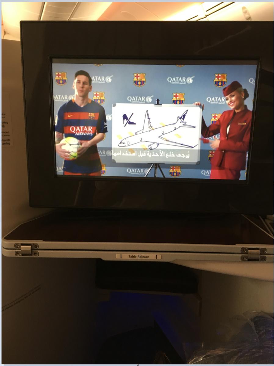 Qatar Airways bruger spillerne fra FC Barcelona i deres sikkerhedsvideo.