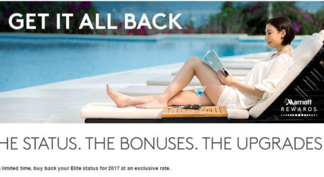 Marriott Rewards Buy Back Elite status