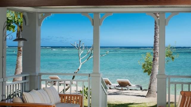 Udsigt fra et Junior Suite på St. Regis Mauritius Resort.