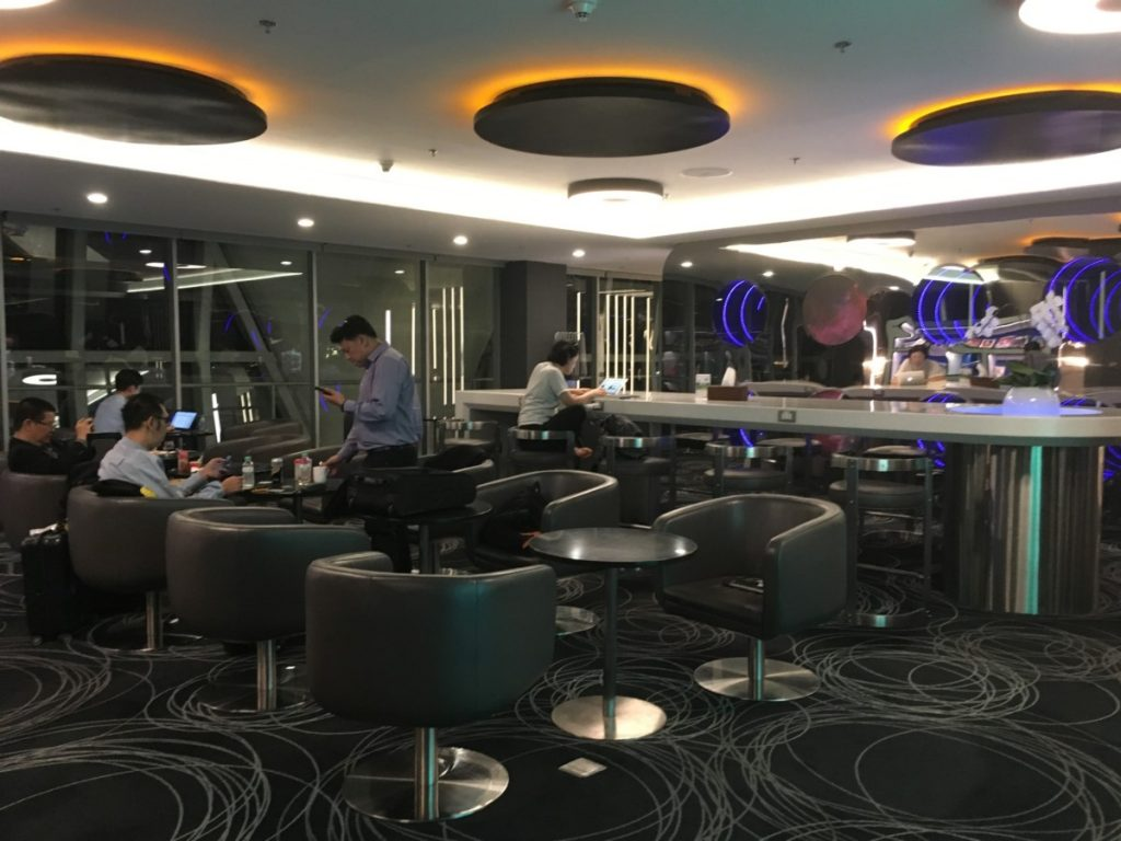EVA Air lounge i Bangkok