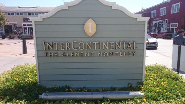 Ankomst til Intercontinental Monterey