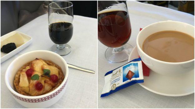 Iberia business class - dessert
