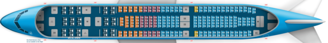 KLM Airbus A330-200 type 1 seatmap