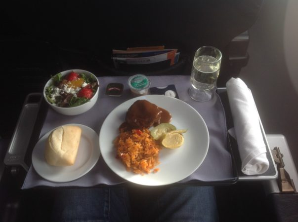 United business class 737